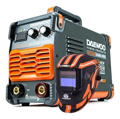 soldadora inverter 250 amp daewoo display digital + mascara