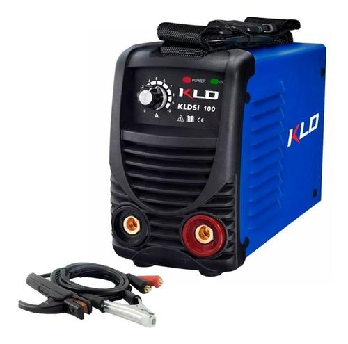 soldadora inverter eléctrica 100 amp kldsi100 + pinzas