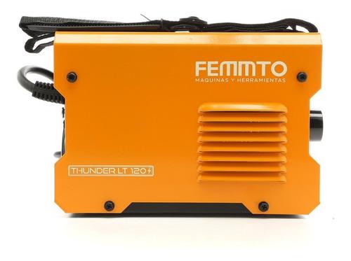 soldadora inverter electrica 120a femmto mma tig 2 en 1 220v