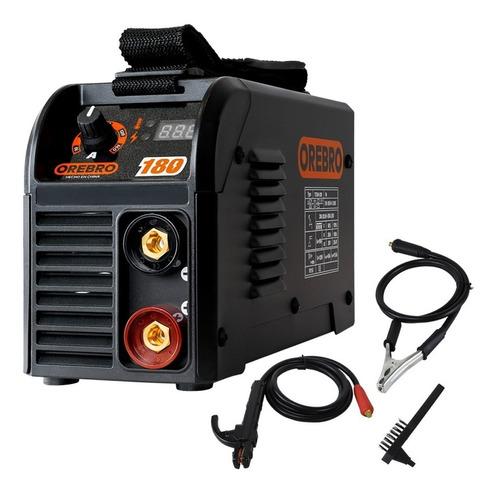 soldadora inverter electrica 160 amp orebro + pinzas cepillo