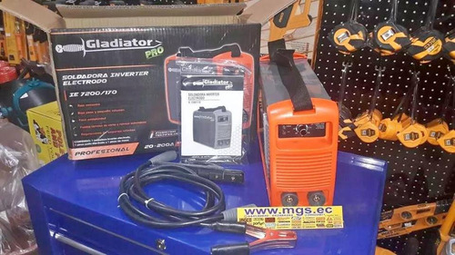 soldadora inverter electrodo 200 amp. marca gladiator