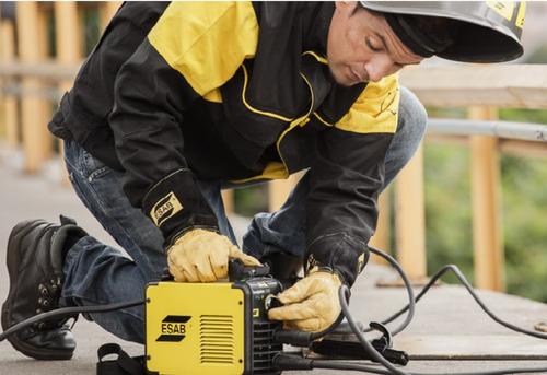 soldadora inverter esab conarco handy arc 160i suelda electrodos hasta 3,20 mm. pesa 3 kg. incluye pinza y cable gramabi