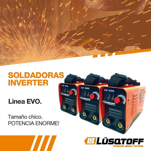soldadora inverter evo 220 amp portatil lusqtoff ®