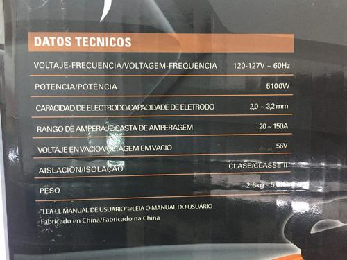 soldadora inverter gladiator 150 amp, ie 6150/1/120m