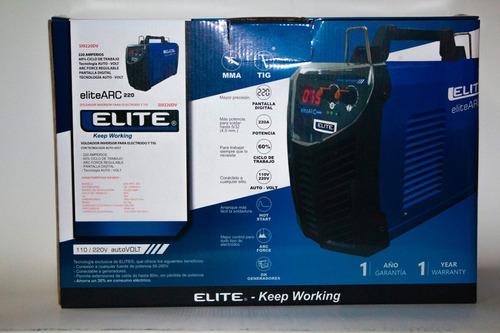 soldadora inverter industrial elite modelo arc 220amp