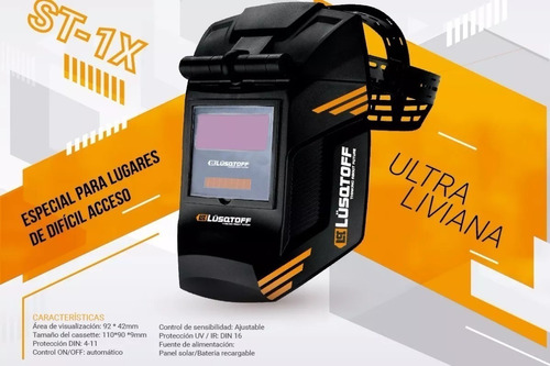 soldadora inverter iron 100 mascara + st1x lusqtoff+envió