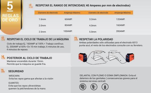 soldadora inverter iron 180 lusqtoff portatil envio 40a 160a