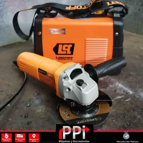 soldadora inverter iron 250 + amoladora 680w + disco + escua