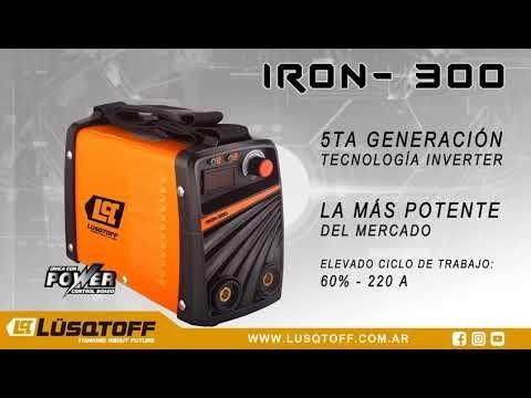 soldadora inverter iron 300 lusqtoff 220 ampers igbt digital