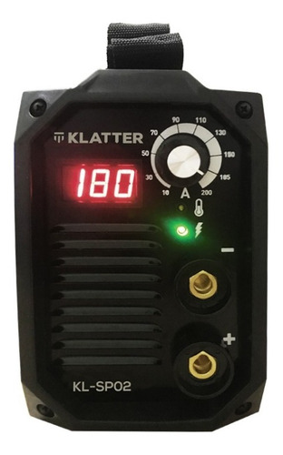 soldadora inverter klatter 180 amp + pinzas