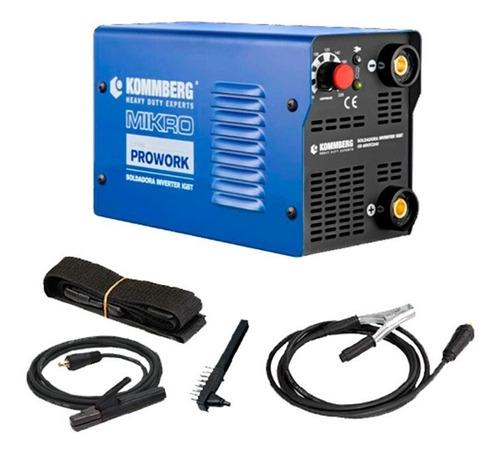 soldadora inverter kommberg mikro 170 amp mascara electrodo