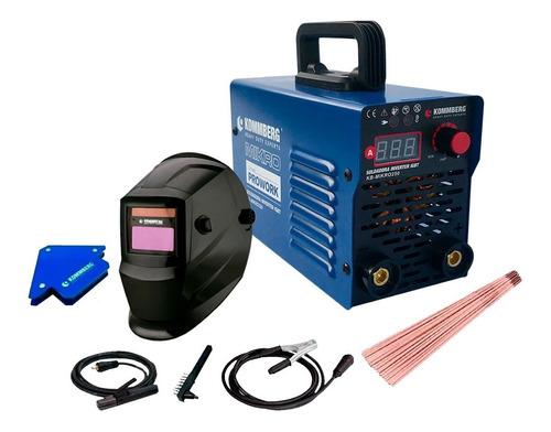 soldadora inverter kommberg mikro 220 amp mascara electrodo