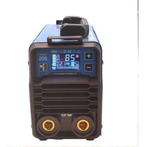 soldadora inverter logus sli-205 lcd mma/tig envio gratis!!
