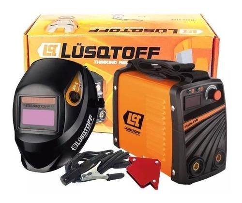soldadora inverter lusqtof iron 150 combo mascara + escuadra