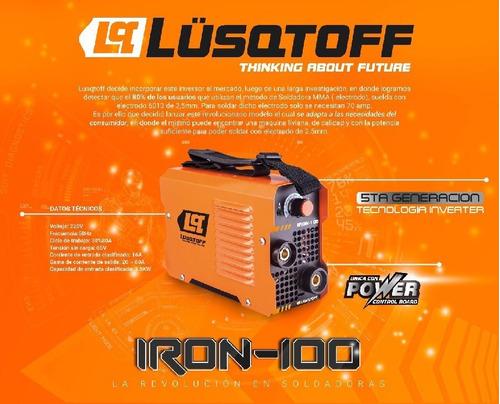 soldadora inverter lusqtoff iron 100  80a