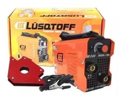 soldadora inverter lusqtoff iron 100 + escuadra combo