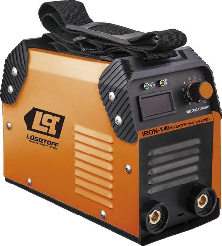 soldadora inverter lusqtoff iron 140 120 amp + envio