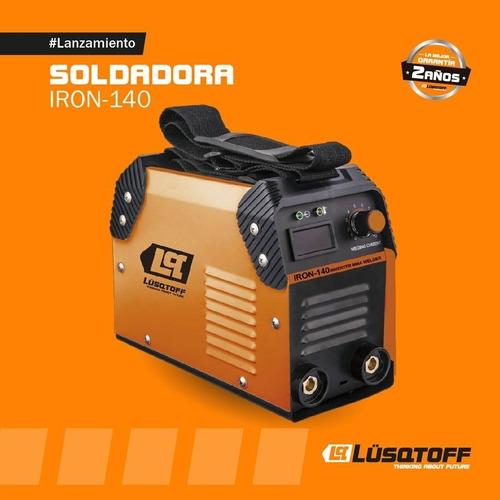 soldadora inverter lusqtoff iron-140 120a+mascarast1x+envio