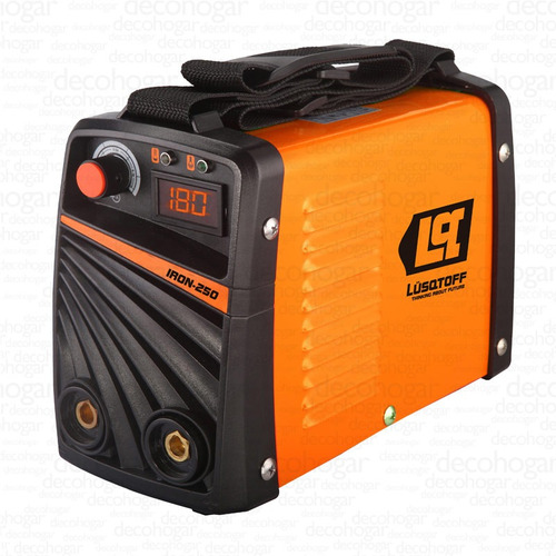 soldadora inverter lusqtoff iron 250 panel digital 180amp