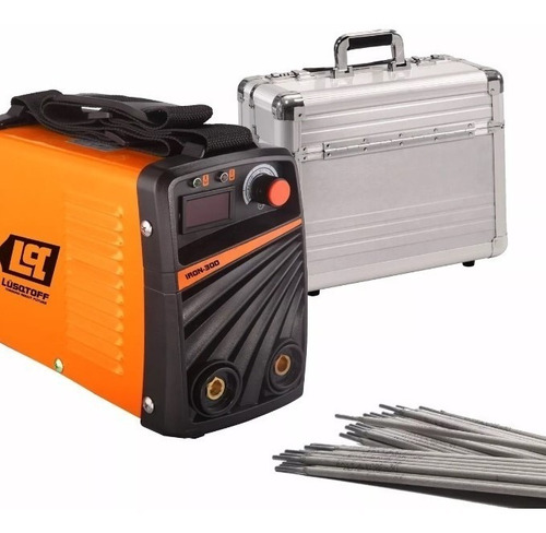 soldadora inverter lusqtoff iron 300 + maletin + electrodos