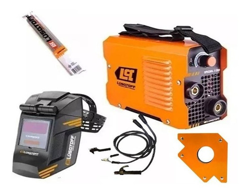 soldadora inverter lusqtoff iron100+masc+elect+escua