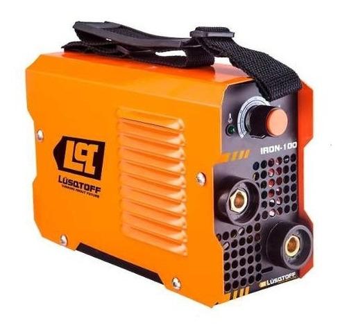 soldadora inverter lusqtoff iron100+masc+elect+escuad