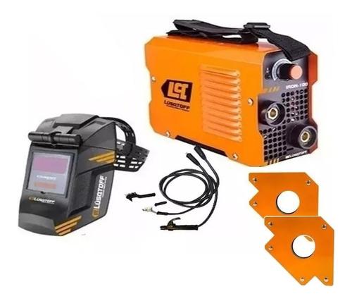 soldadora inverter lusqtoff iron100+masc+escuad+elect mm