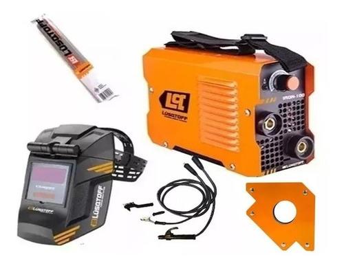 soldadora inverter lusqtoff iron100+mascara st-1x +electrodo