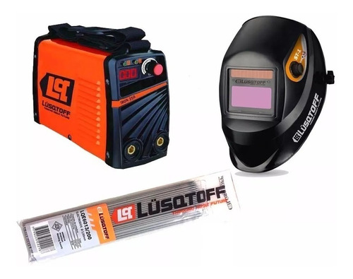 soldadora inverter lusqtoff iron250+ mascara st1x+1kg electr
