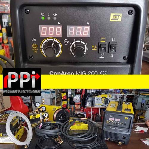 soldadora inverter mig tig electrodo 3en1 esab 200i g2 torch