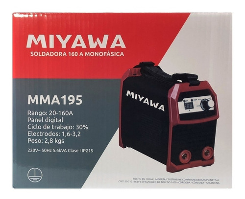 soldadora inverter miyawa mma 195 - 160a