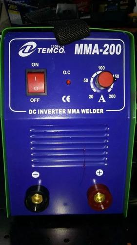 soldadora inverter modelo mma-200 marca temco