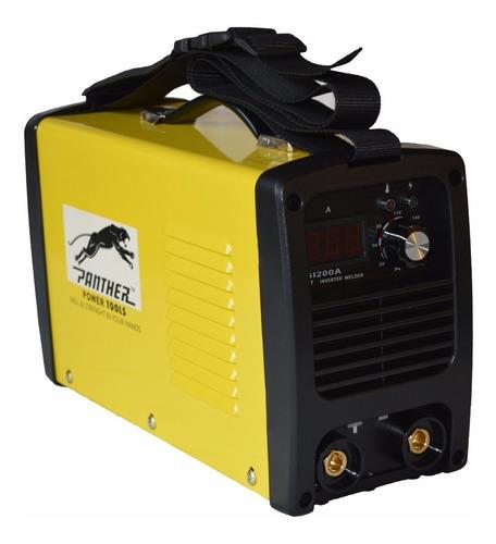 soldadora inverter panther psi200a + careta fotosensible ind