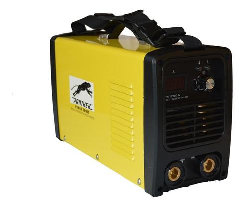 soldadora inverter panther psi250a + pinzas careta y cepillo