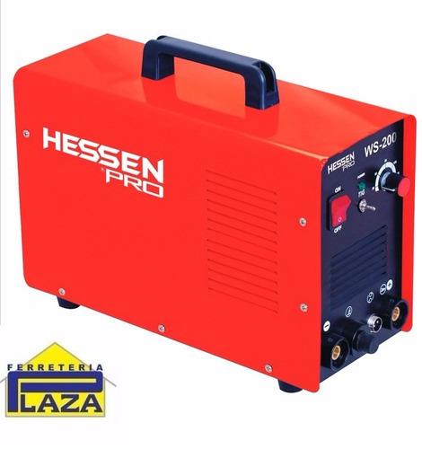 soldadora inverter tig 200amp hessen pro c/ torcha
