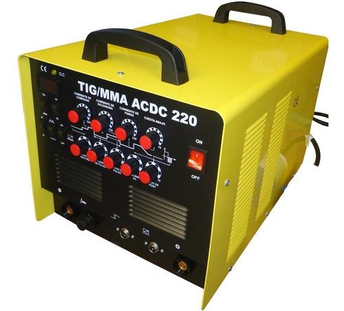 soldadora inverter tig mma acdc kushiro 220 suelda aluminio
