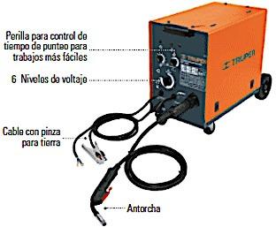 soldadora maquina de soldar de microalambre c.d. 210 amp