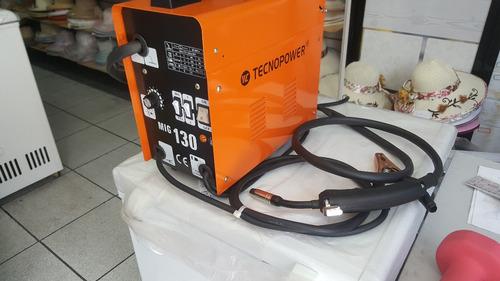 soldadora mig 130 amperes para soldar sin gas