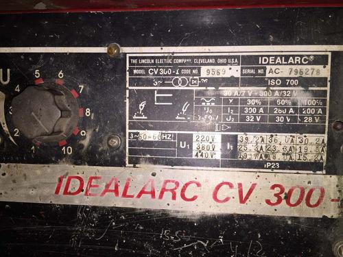 soldadora mig lincoln electric idealarc 300 fuente potente