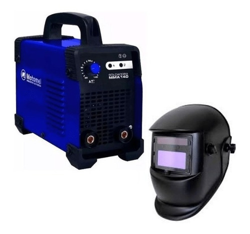 soldadora motomel msmma 140 + mascara fotosensible de regalo