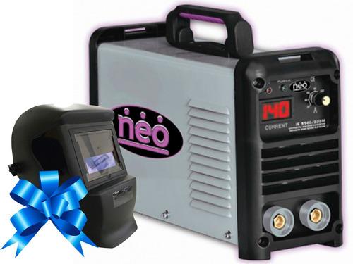 soldadora neo ie9140/220m 140amp + careta fotosensible!!!