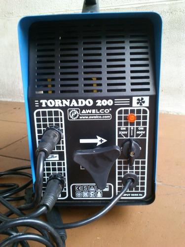 soldadora tornado 200amp. awelco italiana, nueva profesional