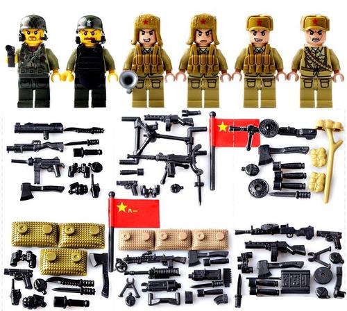 soldados segunda guerra mundial china compatible con lego
