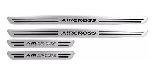 soleira air cross 09 10 11 12 13 14 15 aço escovado