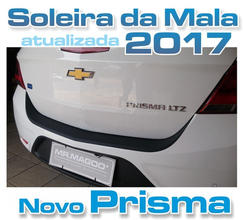 soleira da mala novo prisma 2017 porta-malas para-choque