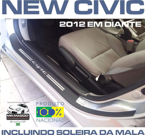 soleiras super protetoras new civic 2012 2013 2014 2015 2016