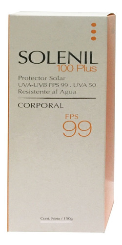 solenil 100 plus protector solar resistente al agua fps99