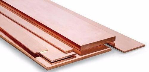 solera de cobre de 3 x 1/4 cantos redondos 3.66m largo