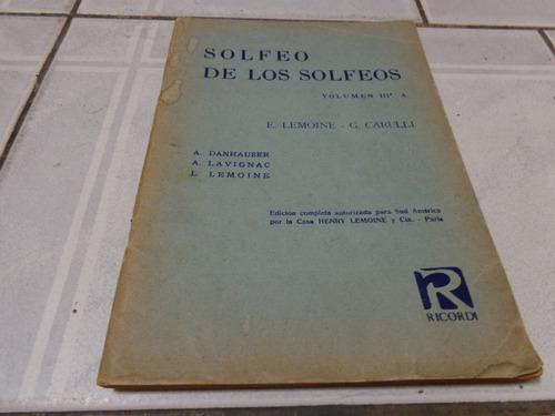solfeo de los solfeos - e. lemoine / g. carulli volumen 3a