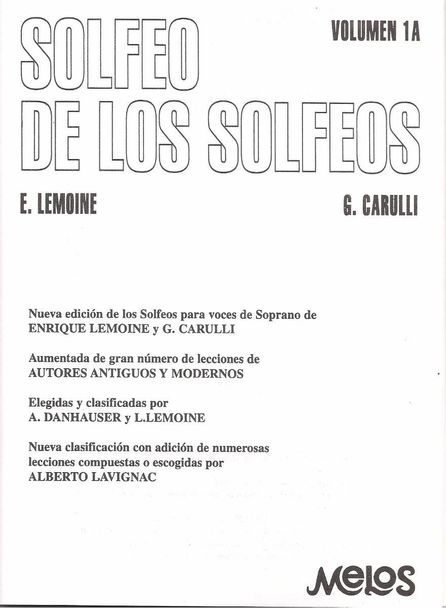 Solfeo De Los Solfeos De Lemoine Y Carulli Pdf Download